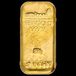 250 g Goldbarren Umicore-zertifiziert
