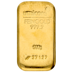 500 g Goldbarren Umicore-Zertifiziert