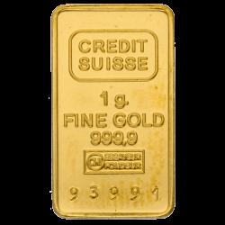 1 g Goldbarren, verschiedene Hersteller