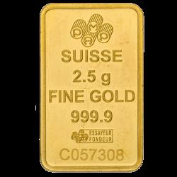 2,5 g Goldbarren, verschiedene Hersteller