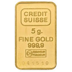 5 g Goldbarren, verschiedene Hersteller