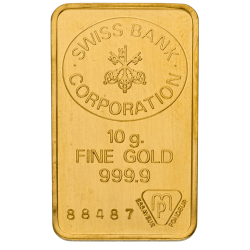 10 g Goldbarren, verschiedene Hersteller