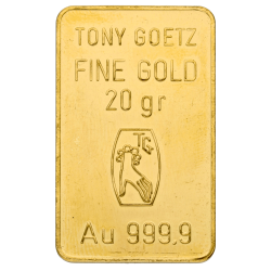 20 g Goldbarren, verschiedene Hersteller