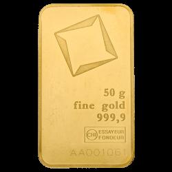 50 g Goldbarren, verschiedene Hersteller