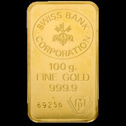 100 g Goldbarren, verschiedene Hersteller