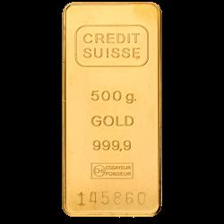 500 g Goldbarren, verschiedene Hersteller