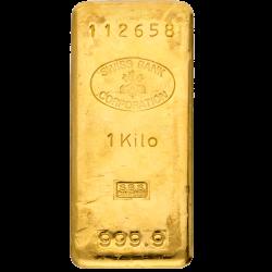 1 kg Goldbarren, verschiedene Hersteller