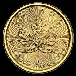¼ oz Maple Leaf Gold - verschiedene Jahrgänge
