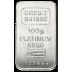 100 g Platinbarren (99,90%), verschiedene Hersteller