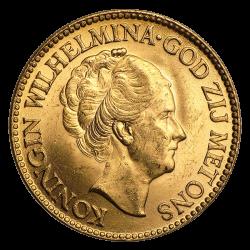 10 Gulden Goldmünze - verschiedene Jahrgänge