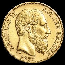 20 Belgische Francs Goldmünze