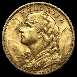 Goldvreneli 20 Franken - Jahrgang zufällig