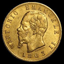Italien 20 Lire Goldmünze - Jahrgang zufällig