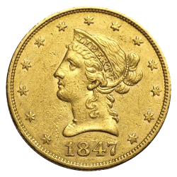 10 Dollar Liberty Head Gold - Jahrgang zufällig