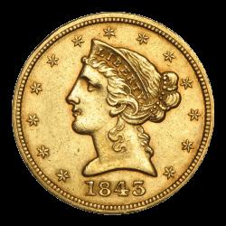 5 Dollar Liberty Head Gold - Jahrgang zufällig