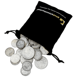 1kg niederländische Gulden Silbermünzen, gemischt