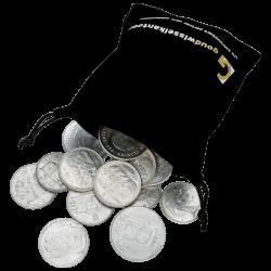 1 kg belgische Francs Silbermünzen, gemischt