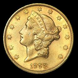 20 Dollar Liberty Head Gold - Jahrgang zufällig