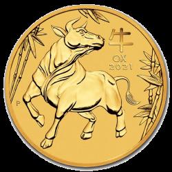 ¼ oz Lunar Goldmünze 2021