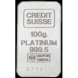 100 g Platinbarren (99,95%), verschiedene Hersteller